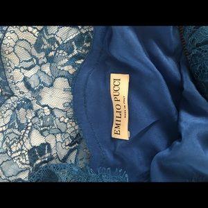 Emilio Pucci one shoulder lace top